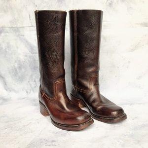 Frye Distressed Campus 14L Boots Dark Brown Size 9